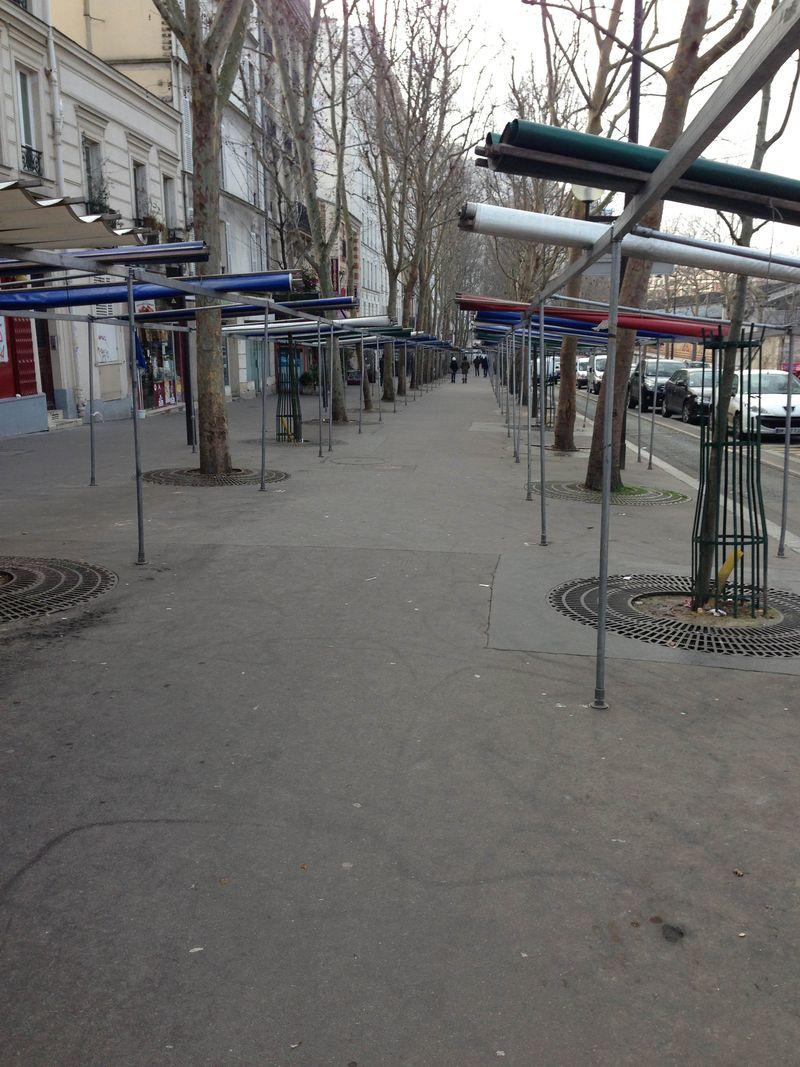 Empty Stalls Blanqui Market Tomorrow
